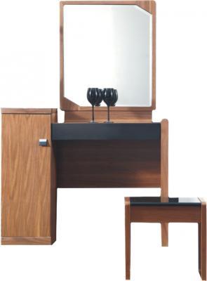 Туалетный столик с зеркалом Королевство сна Moderno-001 (коричневый с черным) - общий вид