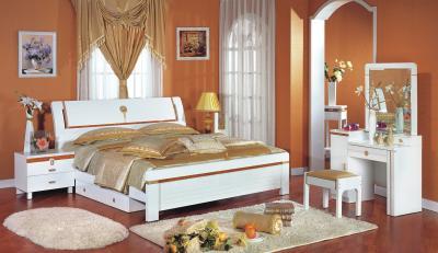 Двуспальная кровать Королевство сна Bianchi-808 180x200 (белая с золотом) - в интерьере