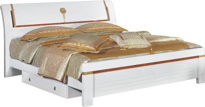 Двуспальная кровать Королевство сна Bianchi-808 180x200 (белая с золотом) - общий вид