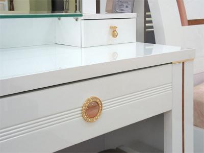 Туалетный столик с зеркалом Королевство сна Bianchi-808 (белый с золотом) - общий вид