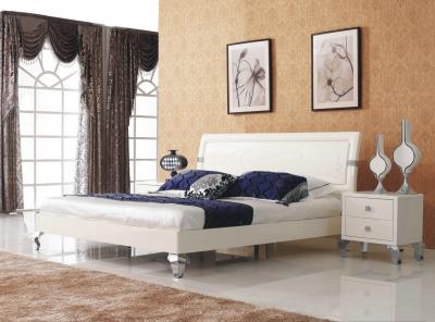 Двуспальная кровать Королевство сна Prestigio-003 180x200 (перламутровый/серебро) - в интерьере