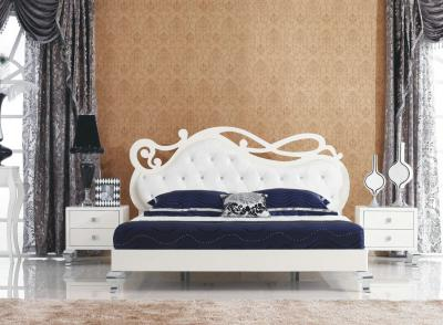 Двуспальная кровать Королевство сна Prestigio-005 160x200 (перламутровый/серебро) - в интерьере