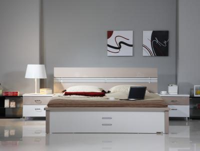 Кровать Королевство сна Silvana-005 160x200 (светло-кофейная с белым) - в интерьере