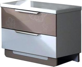 Прикроватная тумба Королевство сна Silvana-002 (светло-кофейная с белым) - общий вид