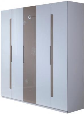 Шкаф Королевство сна Silvana-003 (светло-кофейный с белым) - общий вид
