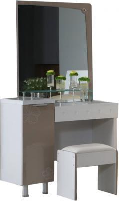 Туалетный столик с зеркалом Королевство сна Silvana-002 (светло-кофейный с белым) - общий вид