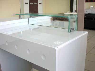 Туалетный столик с зеркалом Королевство сна Silvana-002 (светло-кофейный с белым) - верхняя часть