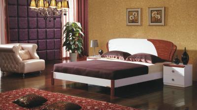 Двуспальная кровать Королевство сна Antonietta-004 160х200 (коричневая с белым) - в интерьере