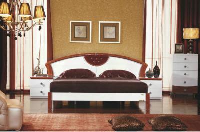Кровать Королевство сна Antonietta-003 180х200 (коричневая с белым) - в интерьере