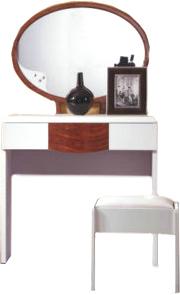 Туалетный столик с зеркалом Королевство сна Antonietta-002 (коричневый с белым) - общий вид