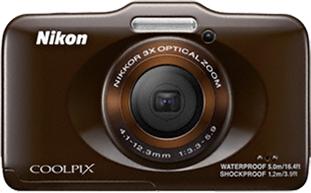 Компактный фотоаппарат Nikon Coolpix S31 Brown - вид спереди
