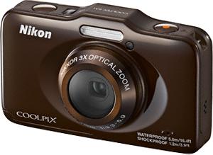 Компактный фотоаппарат Nikon Coolpix S31 Brown - общий вид