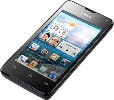Смартфон Huawei Ascend Y300 (T8833) Black - лежа вполоборота