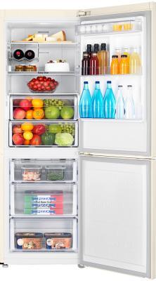 Холодильник с морозильником Samsung RB29FERMDEF - заполненный продуктами