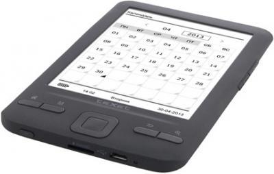 Электронная книга TeXet TB-446 4GB Black (Black) - общий вид