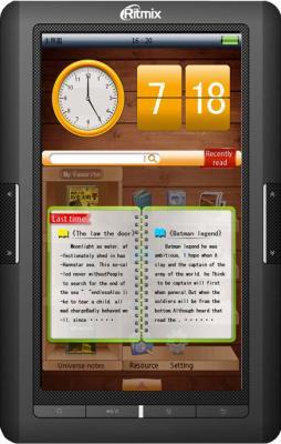 Электронная книга Ritmix RBK-423 - фронтальный вид