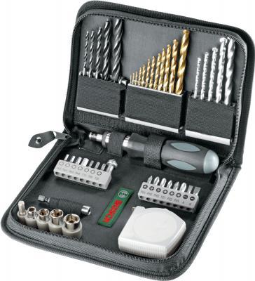 Универсальный набор инструментов Bosch Mixed Titanium 2607019507 (46 предметов) - в раскрытом виде