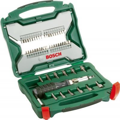 Универсальный набор инструментов Bosch Titanium X-Line 2607019326 (54 предмета) - в раскрытом виде
