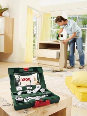 Набор оснастки Bosch V-Line Titanium 2.607.017.314 - в работе