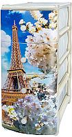 Комод пластиковый Эльфпласт Эйфелева башня 4 (белый) -
