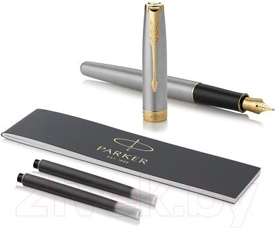 Ручка перьевая Parker Sonnet Core Stainless Steel GT 1931504