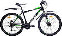 Велосипед Aist Quest (18, черный/зеленый) -