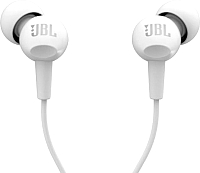 Наушники-гарнитура JBL C100SIU / JBLC100SIUWHT (белый) -