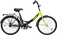 Велосипед Aist Smart 1.0 (24, черный/зеленый) -