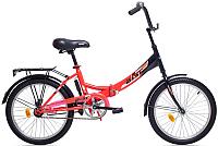 Велосипед Aist Smart 1.0 (24, красный/черный) -