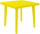 Стол пластиковый Алеана Квадратный 80x80 (желтый) -