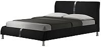 Двуспальная кровать Halmar Dakota 160x200 (черный) -
