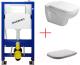 Унитаз подвесной с инсталляцией Duravit Set D-Code (45350900A1+458103001) -