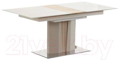 Обеденный стол halmar cameron (шампань/дуб сонома) (21ha9339.