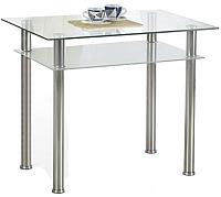 Обеденный стол Halmar Lester 90 (прозрачный/молочный) -