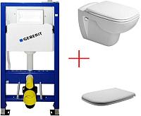 Унитаз подвесной с инсталляцией Duravit Set D-Code (45351900A1+458103001) -