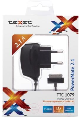 Сетевое зарядное устройство TeXet PowerMate TTC-1079 (черный)