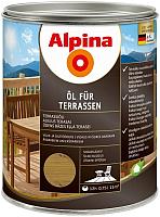 Масло для древесины Alpina Oel Fuer Terrassen (0.75л, средний) -