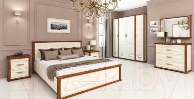 Двуспальная кровать Мебель-Неман Марсель МН-126-01 (крем/дуб кантри)