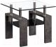 Журнальный столик Atreve Nina B (стекло/эффект бетона/черный) -