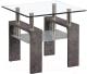 Журнальный столик Atreve Nina B (стекло/эффект бетона/белый) -