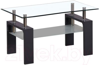 Журнальный столик Atreve Nina A (лакированное cтекло/серый лак)