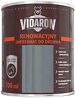 Пропитка для дерева Vidaron Impregnant R10 восстанавливающая (0.7л, серый) -