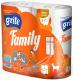 Туалетная бумага Grite Family (трехслойная неокрашенная, 4рул) -