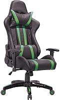 Кресло офисное Седия Gamer Eco (черный/зеленый) -