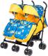 Детская прогулочная коляска Babyhit Twicey (желтый/синий) -
