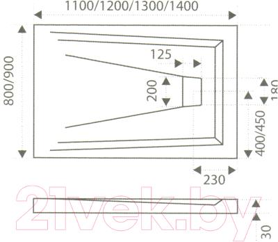 Душевой поддон Good Door Атриум 120x80 (мрамор)
