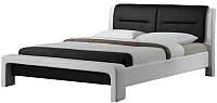 Полуторная кровать Halmar Cassandra 120x200 (белый/черный) -