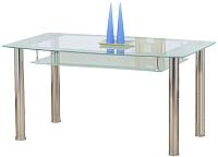 Обеденный стол Halmar Cristal (прозрачный/молочный) -