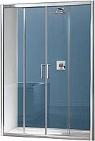 Душевое ограждение Sanplast D4/TX5b-150-S sbW0 (с Glass Protect) -