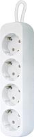 Удлинитель Defender E450 / 99227 (5м, 4 розетки, белый) -